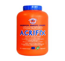 Acrifix Fissativo Acrilico all-Acqua Ecologico Colorificio Mariotti Foligno