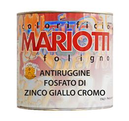 Antiruggine Fosfato di Zinco Giallo Cromo Colorificio Mariotti Foligno