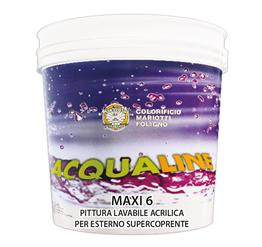 Maxi 6 Pittura Lavabile Acrilica per Interno Esterno Supercoprente Colorificio Mariotti Foligno